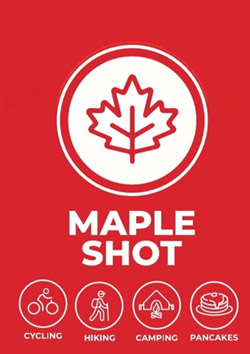 Maple Dude Maple - Shots Cycling Hiking Camping Pancakes